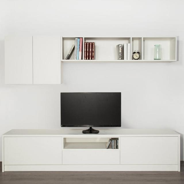 【Arkhouse】伯利恆系列-客廳上下組合收納plus電視櫃W245*H50*D50