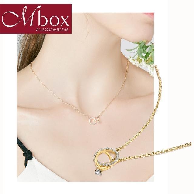 【Mbox】項項鍊 永恆-金色 採用925純銀鎖骨鍊 法式高級感復古港味百搭簡約時尚(純銀)