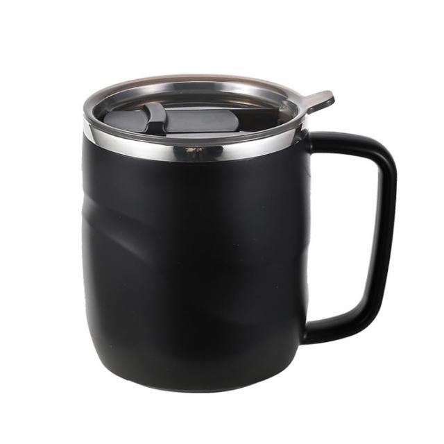 【PUSH!】餐具廚房用品 304不銹鋼馬克杯辦公室杯子防燙咖啡杯(保溫水杯E167)