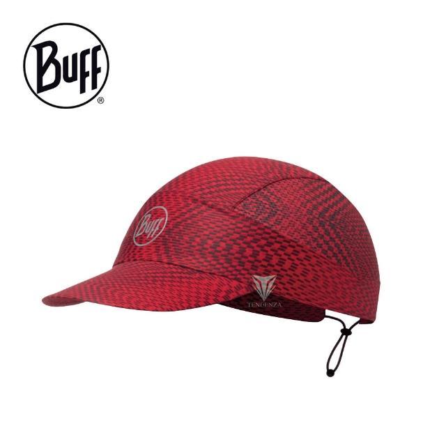 【BUFF】BF113705 FASTWICK極速排汗遮陽帽 - 紅莓果醬(抗UV/運動帽/極速排汗)