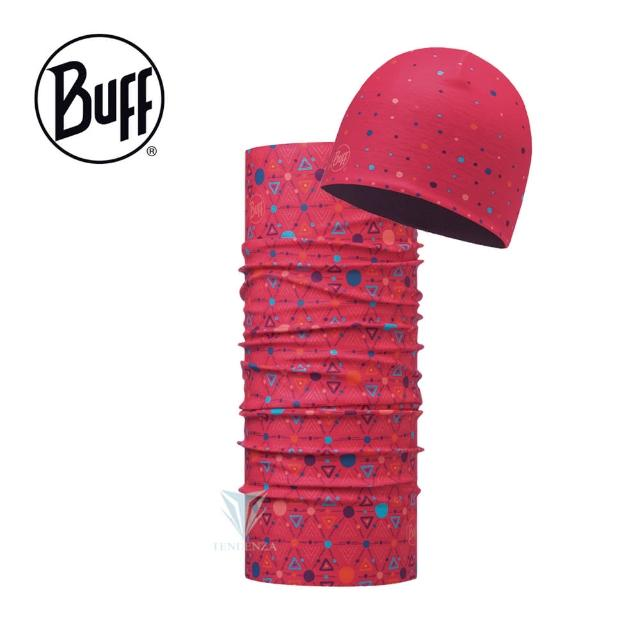【BUFF】BF116130 青少年Polar雙層保暖帽+經典頭巾組合 - 熱鬧滾滾(保暖帽/組合系列/Polar/青少年/兒童)