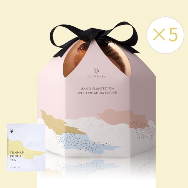 【小葉覓蜜】茶包五件超值組A 蜜香紅茶 綠茶 普洱茶 高山烏龍茶 20入*5盒(超值組)