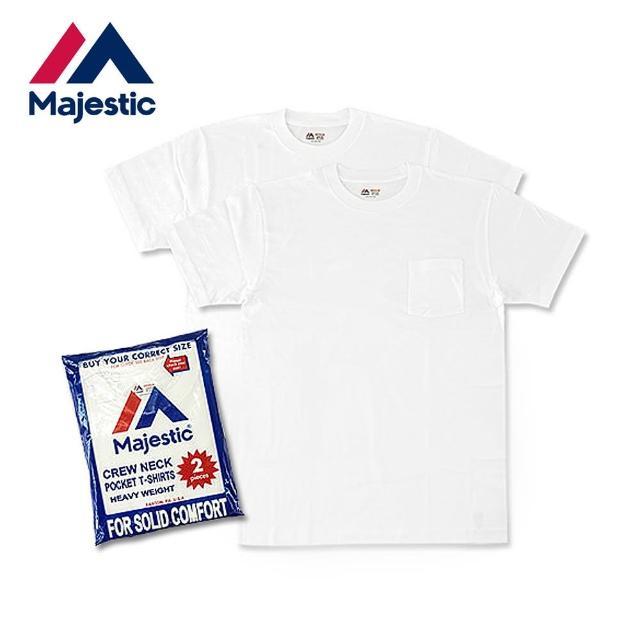 【Majestic】Heavy Weight Pocket日本線重磅口袋上衣組(白色2件入)