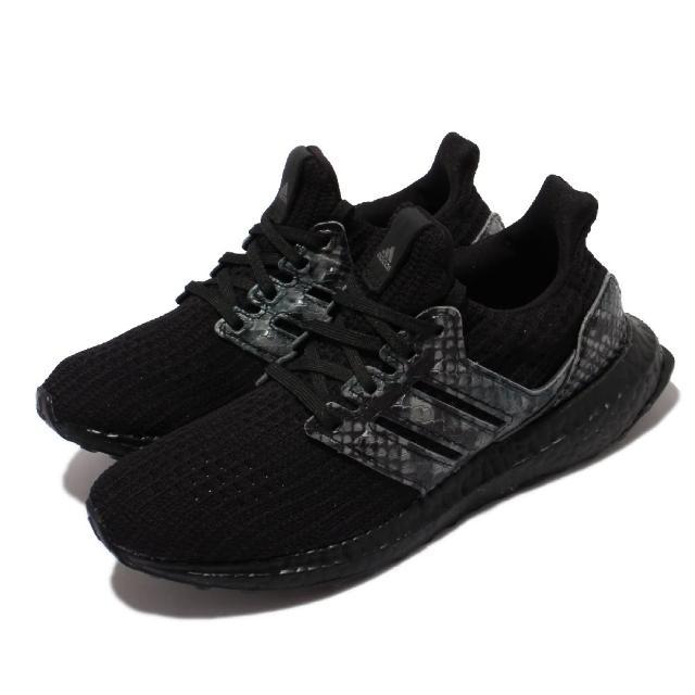 【adidas 愛迪達】慢跑鞋 Ultraboost DNA 運動 男女鞋 海外限定 愛迪達 襪套 避震 路跑 情侶 黑 灰(FZ2733)