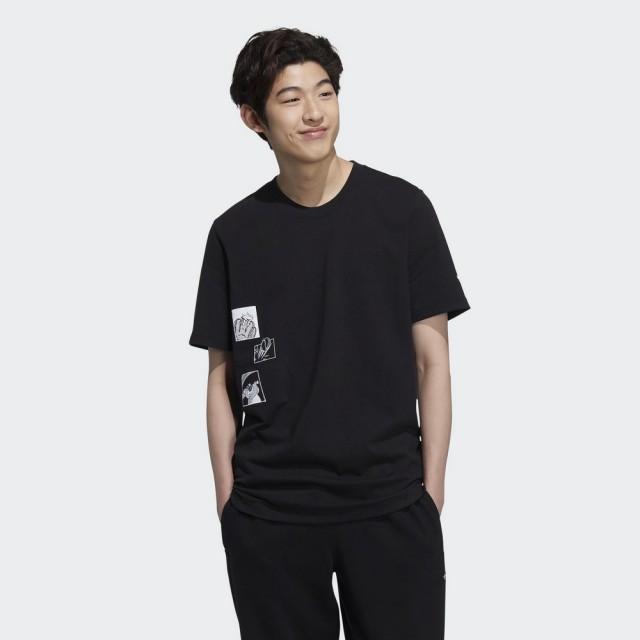 【adidas 愛迪達】短袖上衣 DISNEY PIXAR 男款 黑(HD9087)