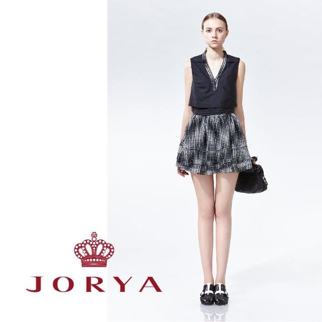 【JORYA】weekendH2200202圓點V領無袖連身洋裝