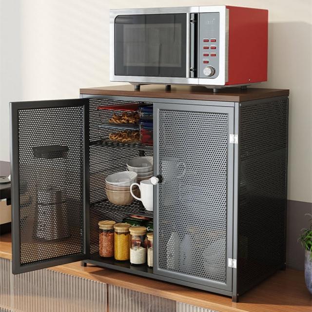 【AOTTO】多功能簡約雙層廚房置物架 調味瓶架 刀架(置物架 收納架 層架)