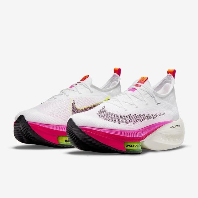 【NIKE 耐吉】慢跑鞋 W AIR ZOOM ALPHAFLY NEXT% FK 女鞋 白粉(DJ5456100)