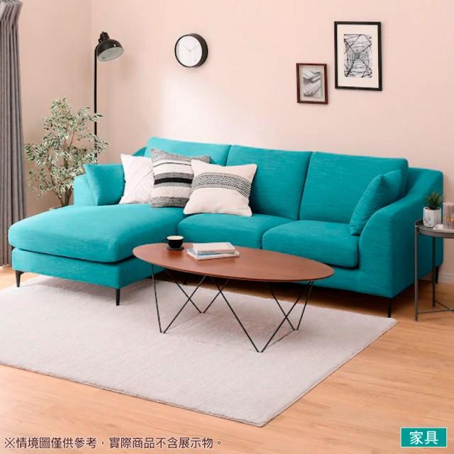 【NITORI 宜得利家居】◎布質右躺椅L型沙發 N-POCKET A15 DR-TBL(L型沙發 角落沙發 躺椅沙發)