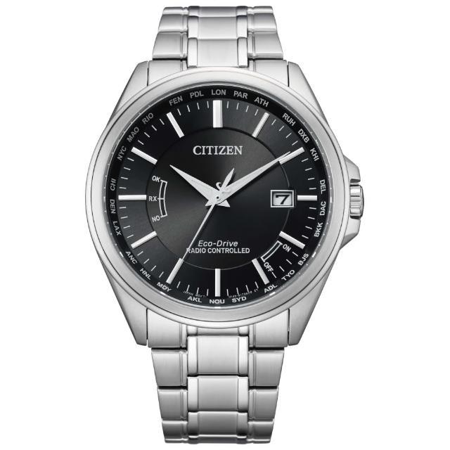 【CITIZEN 星辰】紳士必備電波光動能腕錶(CB0250-84E)