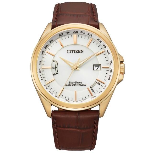 【CITIZEN 星辰】紳士必備電波光動能腕錶(CB0253-19A)