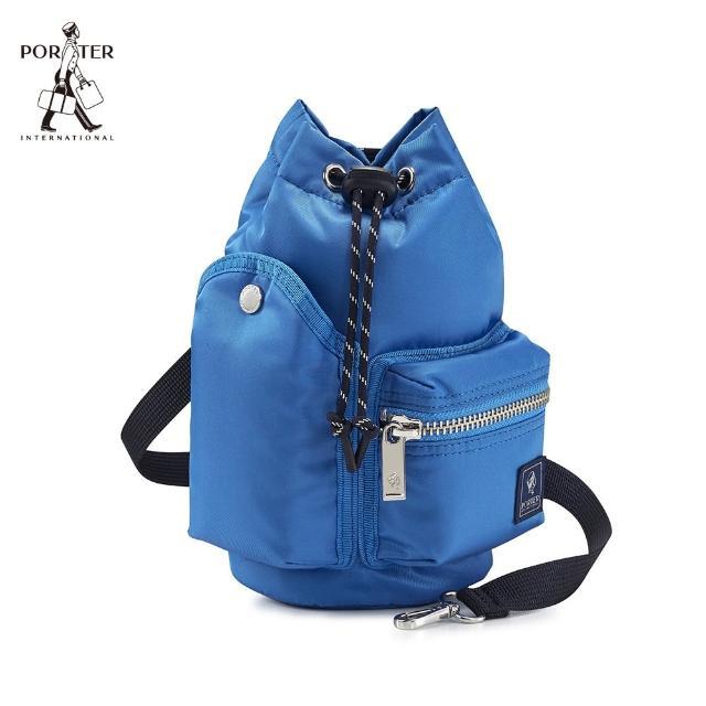 【PORTER INTERNATIONAL】POD束口兩用水桶包(太平洋藍)
