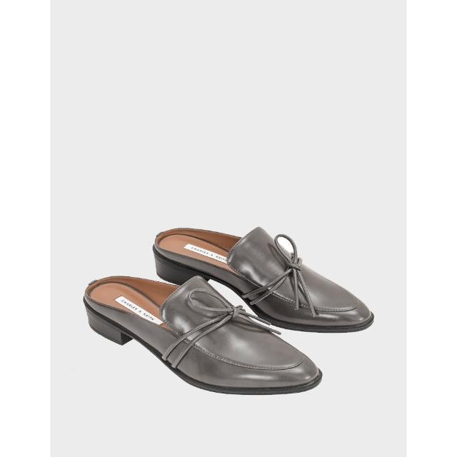 【CHARLES & KEITH】牛津拖鞋-灰色