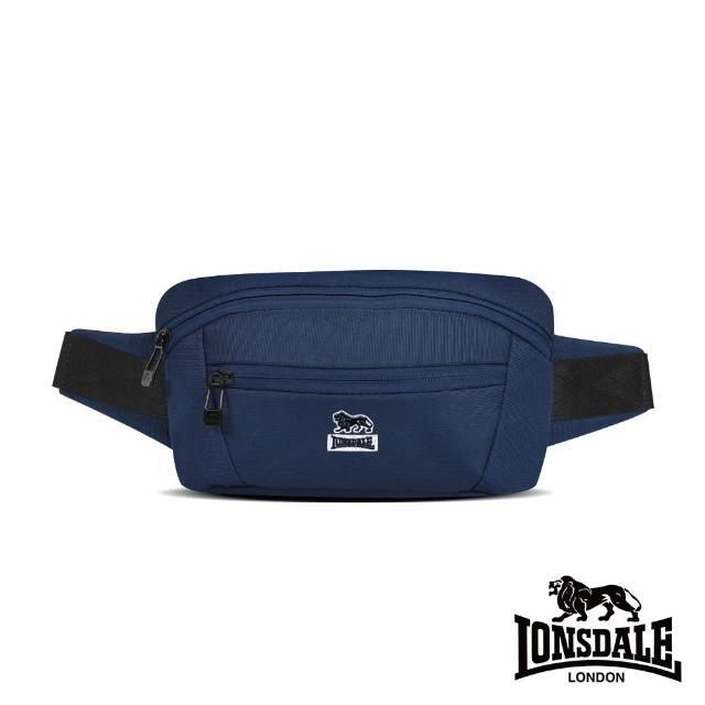 【LONSDALE 英國小獅】率性潮流系列-腰包/肩包(深藍色 LD1612)
