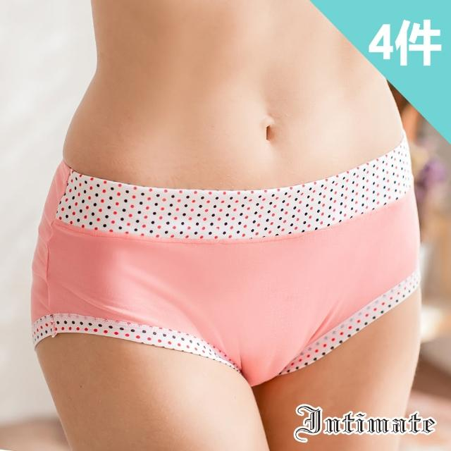 【Intimate 內著】舒棉超柔感包臀內褲-圓點(特惠4件組)