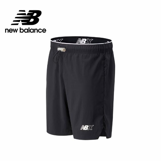 【NEW BALANCE】NB平織短褲_男款_黑色_MS13550BK(美版 版型偏大)