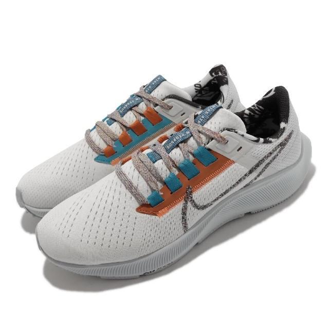 【NIKE 耐吉】慢跑鞋 Zoom Pegasus 38 MFS 男鞋 氣墊 避震 Rract科技 透氣 包覆 白 灰(DC4520-100)