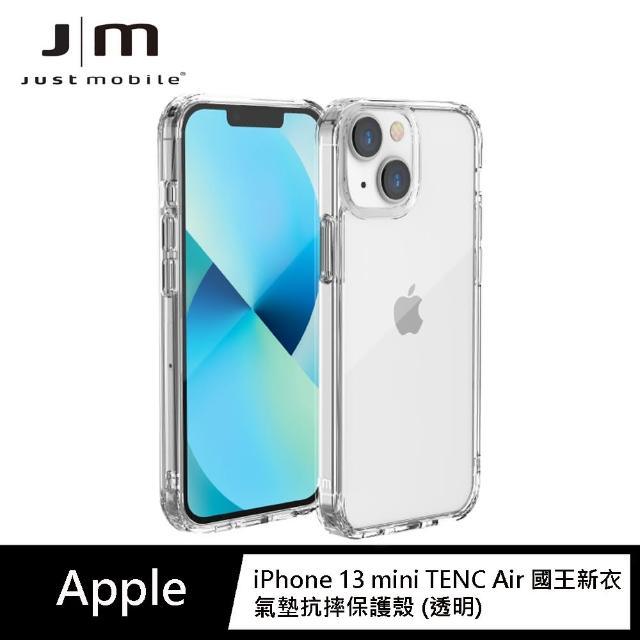 "【Just Mobile】iPhone 13 mini 5.4"" TENC Air 國王新衣氣墊抗摔保護殼-透明(iPhone 13 保護殼)"