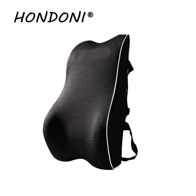 【HONDONI】新款4D護腰靠墊 記憶靠墊 居家背墊 汽車舒壓腰靠墊