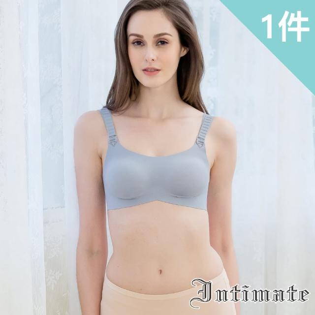 【Intimate 內著】放鬆式睡眠無鋼圈內衣 S-XXL(特惠銀灰色1件組)